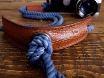 Eight knot カメラストラップ(インディゴ)[受注生産]の画像