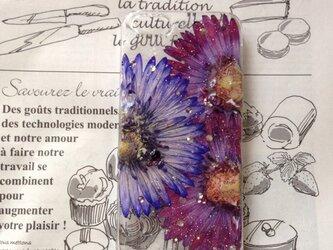 iPhone5 purple pressedflowerの画像
