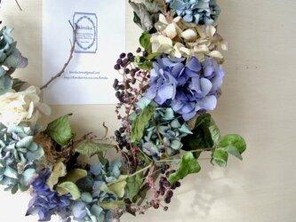 紺色の森のwreath-秋への道-の画像