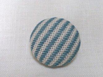 こぎん刺し ブローチ(直径4.0cm)の画像