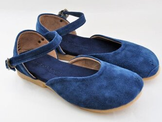 Tokuyama Shoes『plie sandals』navy suede leatherの画像