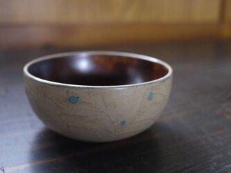 コロン小鉢 白うるしに水玉の画像