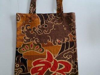 和柄トートバック(大漁旗)の画像