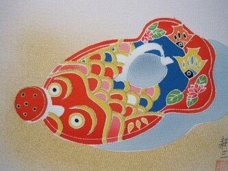金魚ジョーロ  手描きの京友禅染 絵のみの画像