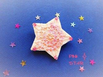 テネリフレースのスターブローチ(ピンク)の画像