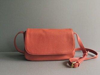plain shoulder bag ( red )の画像