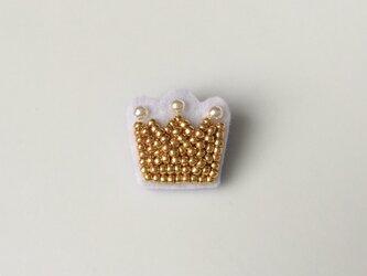 小さな王冠 ブローチの画像