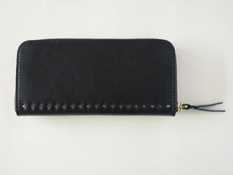 コの字ファスナーの定番長財布 / 漆黒の画像