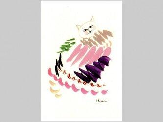 ポストカード 絵の具の猫 2枚の画像