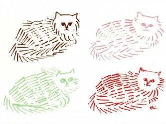 ポストカード 猫脈 2枚の画像