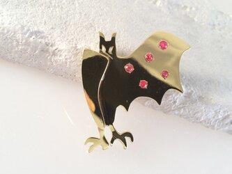Bat Spineled Wing コウモリ真鍮ブローチの画像