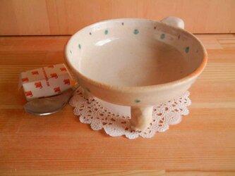 ニャンカップ  No.732:白猫盃型 水玉上絵付の画像