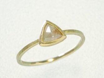 0.41ct オーガニック ダイヤモンド K14YG スタッキング リング『桃』の画像