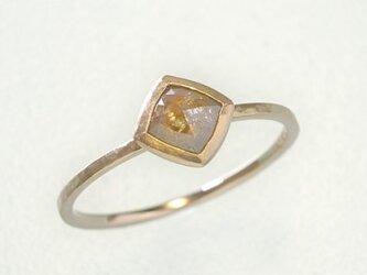 0.38ct オーガニック ダイヤモンド K14PG スタッキング リング『木苺』の画像