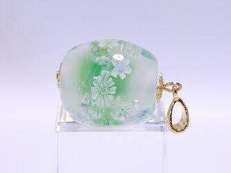 とんぼ玉「緑の風」の画像