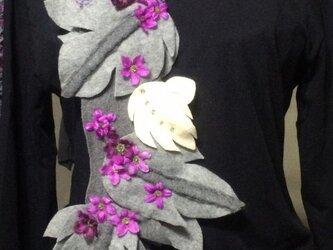 お花畑マフラー4の画像