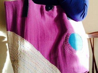 刺し子バッグ 「正弓」の画像