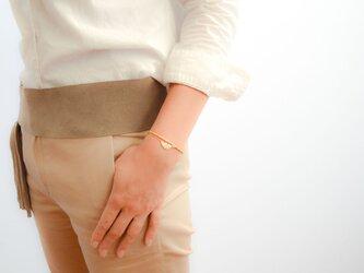2set Matte Gold Leaf Braceletの画像