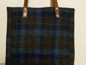 ウールのバッグ その2 ハリスツィードでの画像