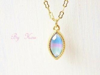 //pastel rainbow//ヴィンテージネックレス。Gの画像