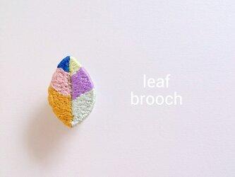 『葉っぱ』ブローチの画像