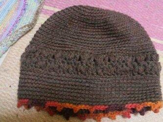 シンプルニット帽の画像