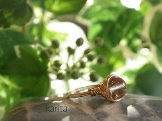 山梨クリスタルの指輪の画像