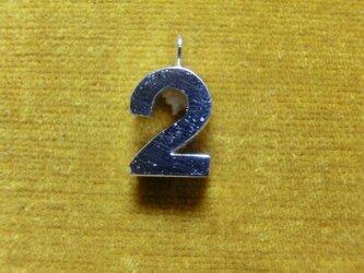 【2】数字のペンダント+チェーン付きの画像