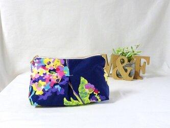 《再》ポケット付メイクポーチ ◆Water Bouquetの画像