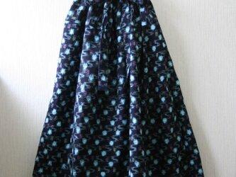 綿 絣ピンク ギャザースカート Mサイズの画像