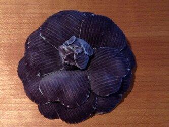 コーデュロイの紺色カメリアの画像
