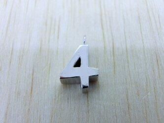 【4】数字のペンダント+チェーン付きの画像