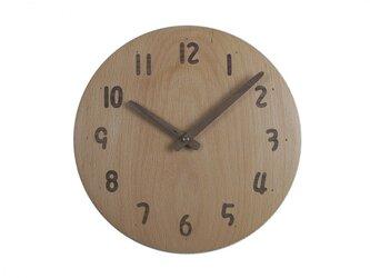 木の時計 象嵌加工 直径24㎝ Wa24AU-24の画像