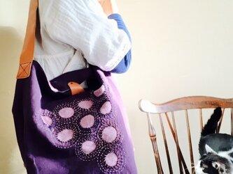 刺し子バッグ 「葡萄」の画像