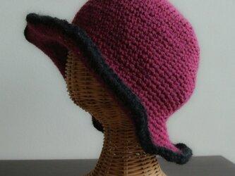 【SALE】冬のプリム帽  * 紅  *の画像