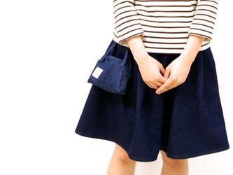 ポーチ付きギャザースカート♡(デニム)の画像