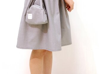 ポーチ付きギャザースカート♡(チドリ柄)の画像