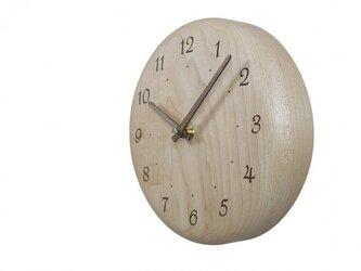 木の時計 レーザー加工 直径19㎝ Wa19AR-04の画像