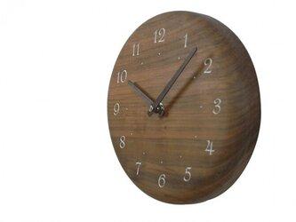 木の時計 レーザー加工 直径19㎝ Wa19AR-01の画像
