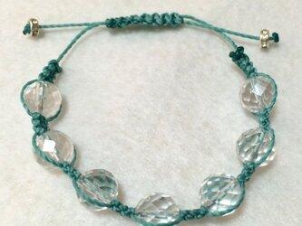 水晶 パワーストーン ブレスレット(グリーン)の画像