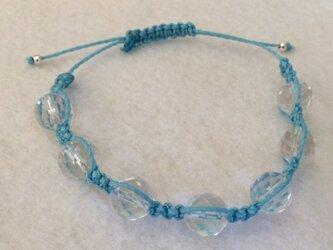 水晶 パワーストーン ブレスレット(ブルー)の画像