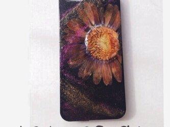 iPhone5.5s/dark flower押し花の画像