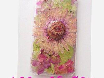 iPhone6押し花カバーの画像