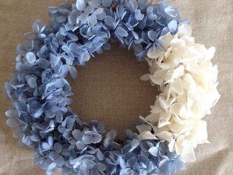 【HANA-IROリース】ロイヤルブルー&ホワイトの画像