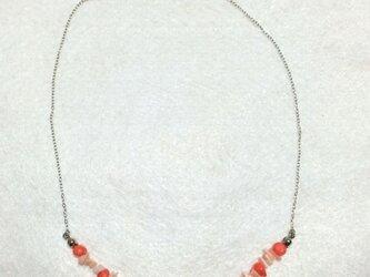 サンゴ ネックレスの画像