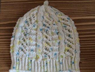 ベビーどんぐりニット帽 青系の画像