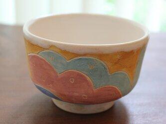 色化粧抹茶茶碗の画像