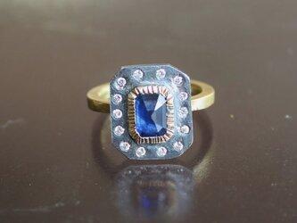 Octagon Sapphire Ringの画像