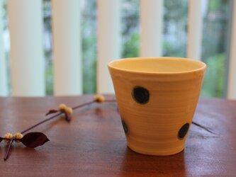 色化粧ドット模様フリーカップ1の画像