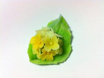 紫陽花のブローチの画像